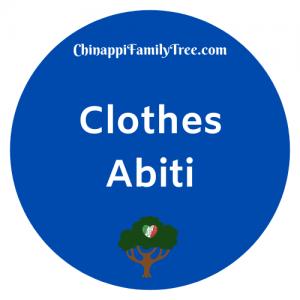 Clothes / Abiti